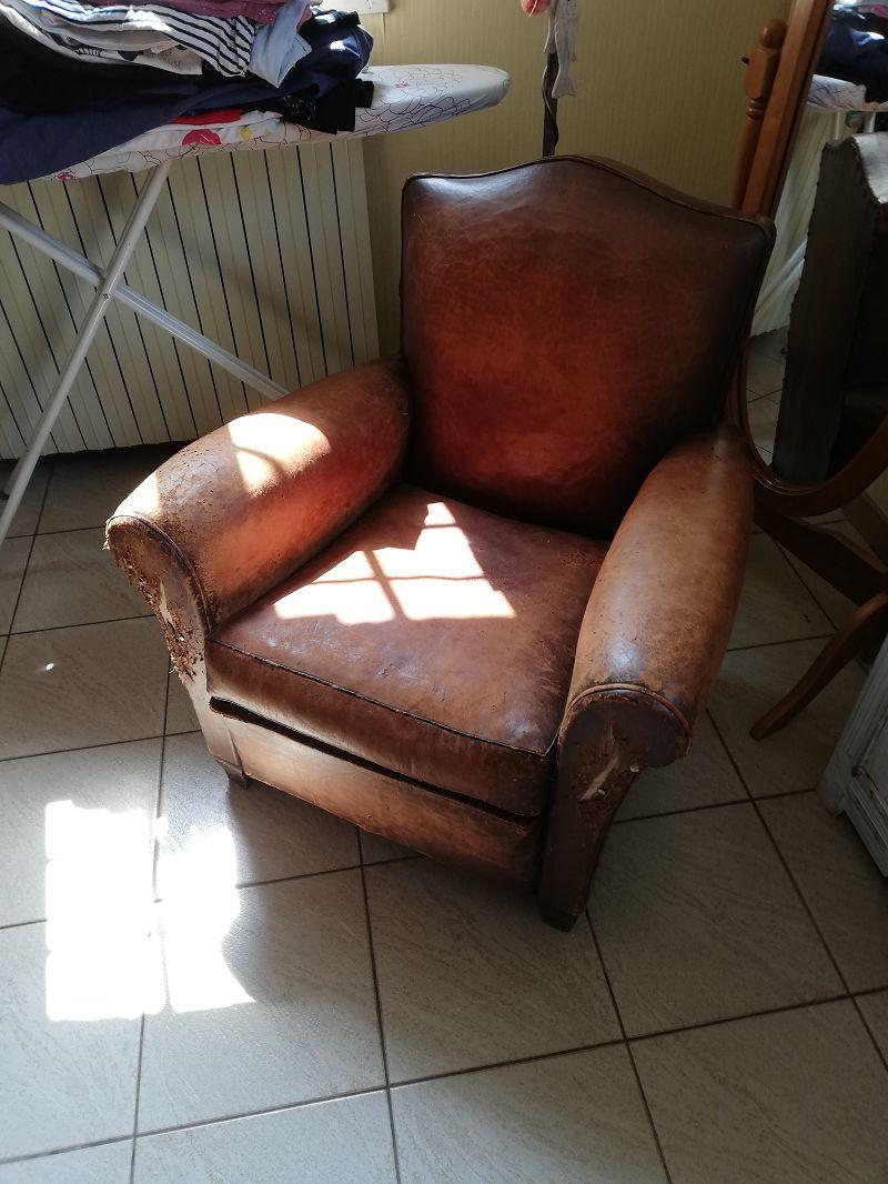 Fauteuil Club A Restaurer restauration fauteuil club en cuir   sofolk