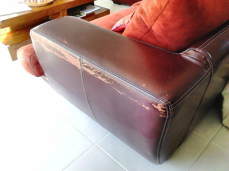 r paration canap en nubuck sofolk. Black Bedroom Furniture Sets. Home Design Ideas