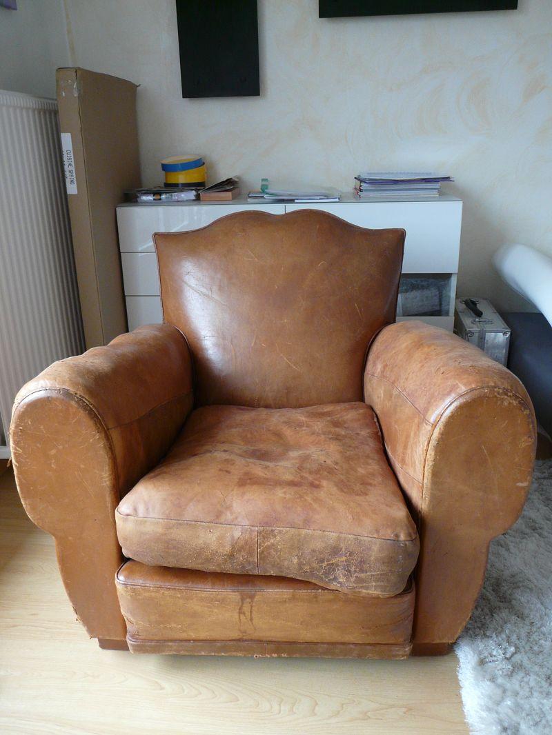 r paration et recoloration fauteuil club sofolk. Black Bedroom Furniture Sets. Home Design Ideas