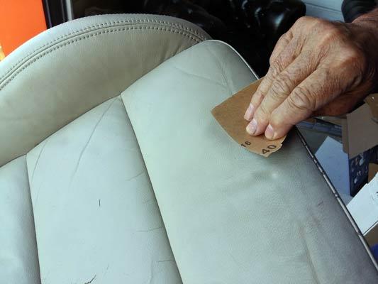 renovation siège auto cuir