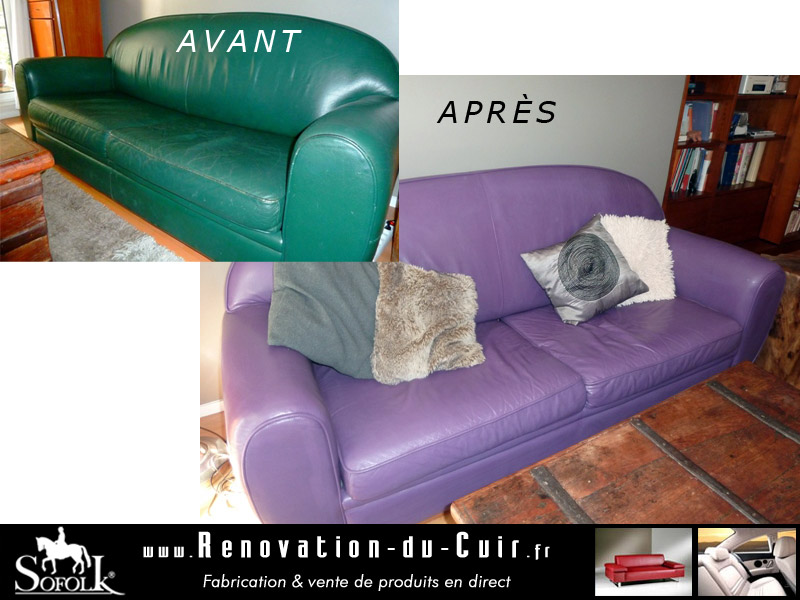 R novation salon cuir sofolk for Renovation canape cuir