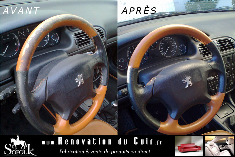 renovation volant cuir