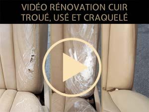 vidéo rénovation siège auto-cuir