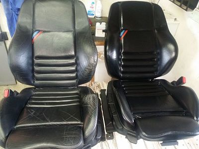 rénovation cuir cobra bmw m3 e36